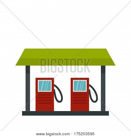 Gas station icon in flat style isolated on white background vector illustration