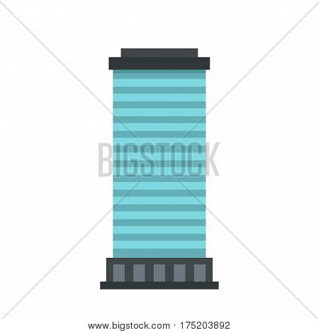 Column icon in flat style isolated on white background vector illustration
