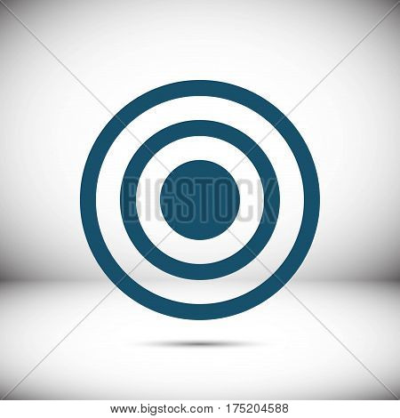 target icon stock vector illustration flat design