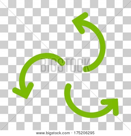 Cyclone Arrows icon. Vector illustration style is flat iconic symbol eco green color transparent background. Designed for web and software interfaces.