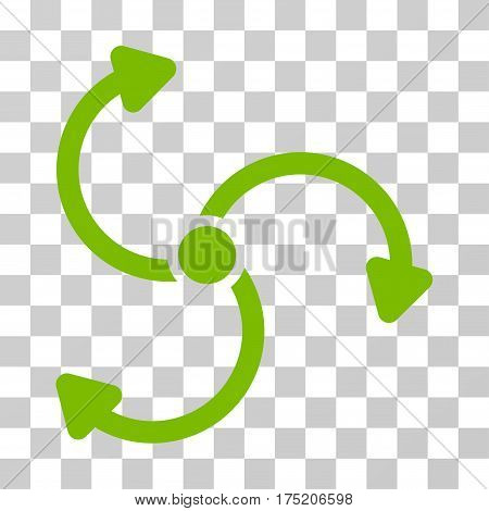 Fan Rotation icon. Vector illustration style is flat iconic symbol eco green color transparent background. Designed for web and software interfaces.