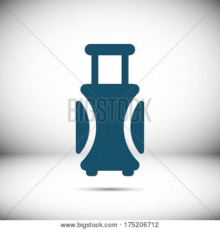 travel bag icon stock vector illustration flat design