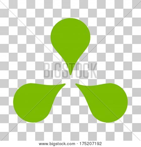 Map Markers icon. Vector illustration style is flat iconic symbol eco green color transparent background. Designed for web and software interfaces.