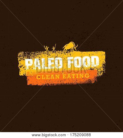 Paleo Food Clean Eating Vector Concept on Organic Background.