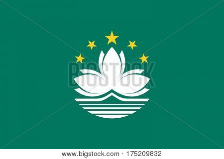 Official vector flag of Macau ( Macao Special Administrative Region of the People's Republic of China )