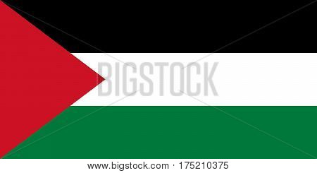 The Official vector flag of Palestine .