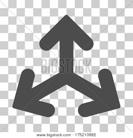 Direction Variants icon. Vector illustration style is flat iconic symbol gray color transparent background. Designed for web and software interfaces.