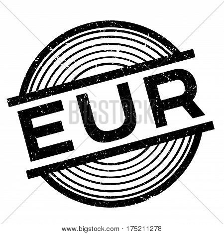Eur rubber stamp. Grunge design with dust scratches. Effects can be easily removed for a clean, crisp look. Color is easily changed.