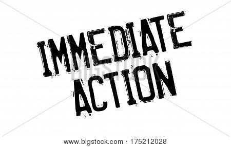 Immediate Action rubber stamp. Grunge design with dust scratches. Effects can be easily removed for a clean, crisp look. Color is easily changed.