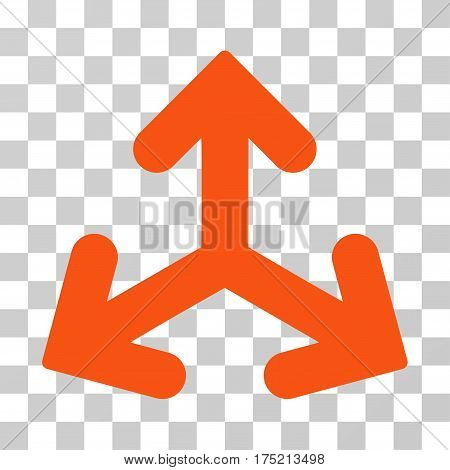Direction Variants icon. Vector illustration style is flat iconic symbol orange color transparent background. Designed for web and software interfaces.