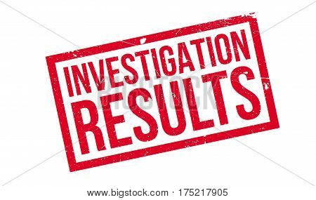 Investigation Results rubber stamp. Grunge design with dust scratches. Effects can be easily removed for a clean, crisp look. Color is easily changed.