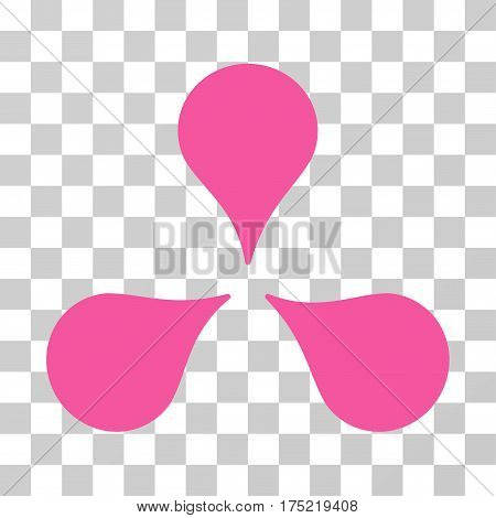 Map Markers icon. Vector illustration style is flat iconic symbol pink color transparent background. Designed for web and software interfaces.