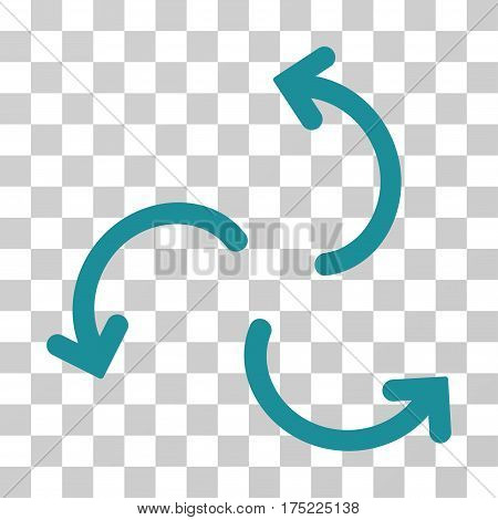 Cyclone Arrows icon. Vector illustration style is flat iconic symbol soft blue color transparent background. Designed for web and software interfaces.