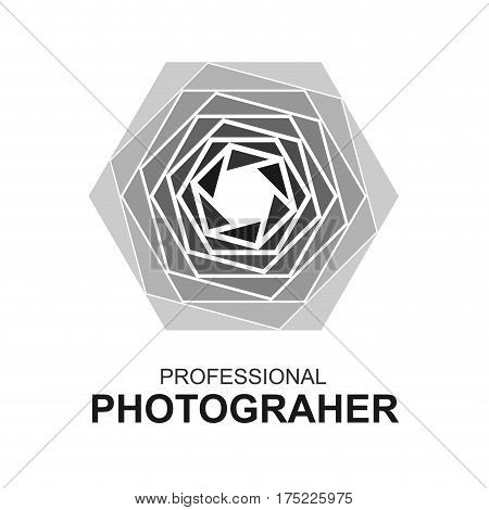 Abstract Aperture logo professional photographer emblem sign