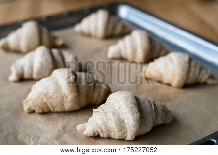 Not Baked Raw Whole Wheat Croissants