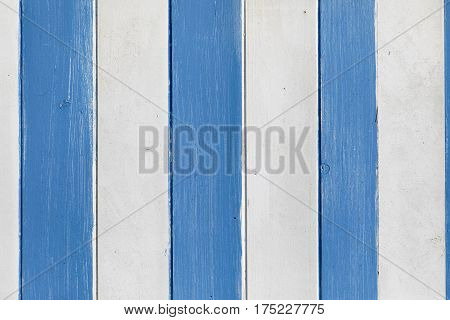 Blue and white painted wooden wall useful as background