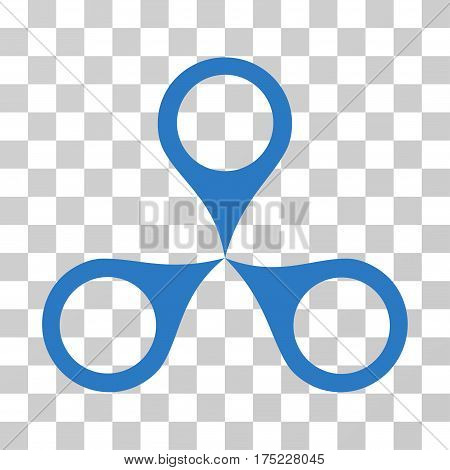 Map Markers icon. Vector illustration style is flat iconic symbol, smooth blue color, transparent background. Designed for web and software interfaces.