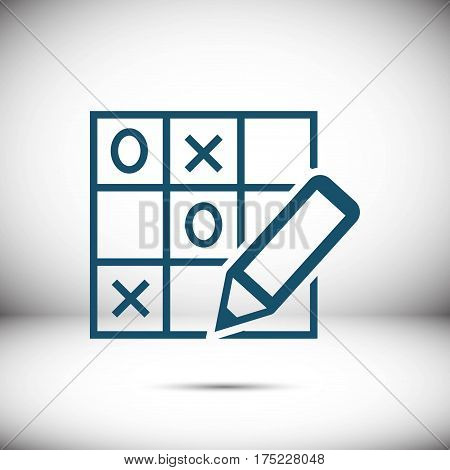 TIC TAC toe icon stock vector illustration flat design