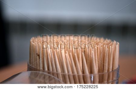 Bunch of toothpick mixed in various forms