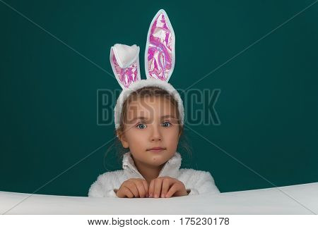 easter child looking to camera