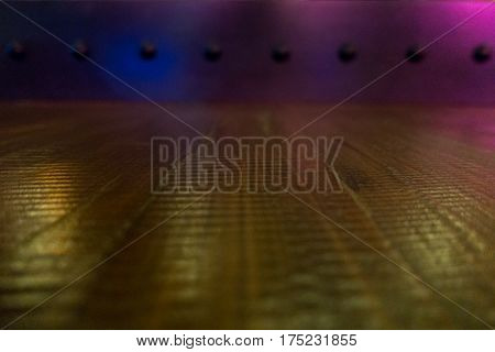 Wooden Floor And Iron Wall With Rivet Background