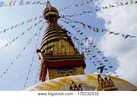 Bodhnath is the largest stupa in Nepal and the de facto religious centre of Nepal's large Tibetan community. The association is because the site marked the Tibetan trade route entrance to Kathmandu.