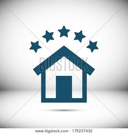 hotel icon stock vector illustration flat design