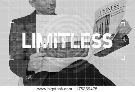 Limitless Time Unlimited Infinity Ability Graphic concept
