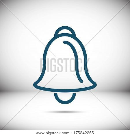bell icon stock vector illustration flat design
