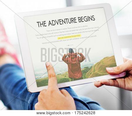 Travel Journey Explorer Adventure Tour Word concept