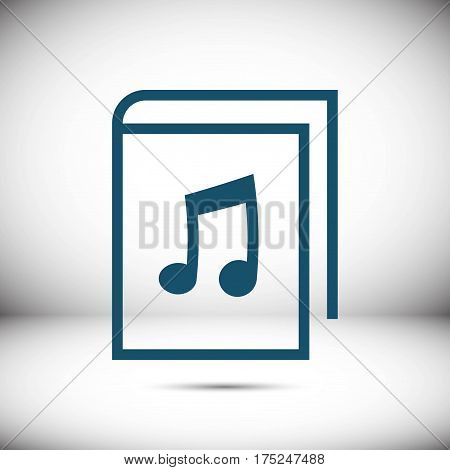 audiobook icon stock vector illustration flat design