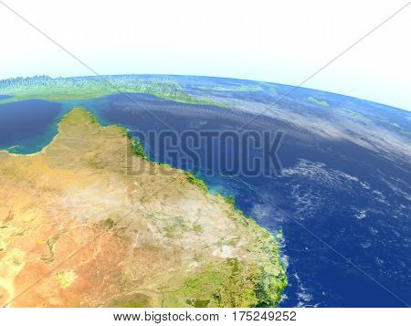 Great Reef Barrier On Planet Earth
