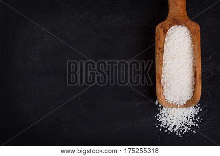 Granulated Cassava (tapioca) On Black Background