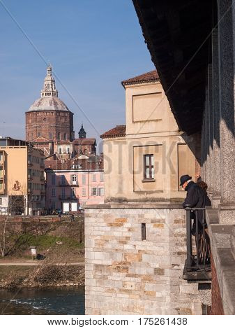 Pavia, Old Watching The River