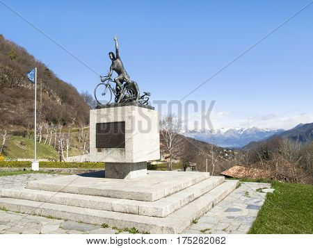 Monument In Memory Of Cyclists Ghisallo