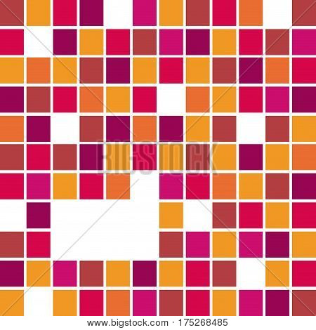 fuchsia abstract square bacground icon, vector illustraction design