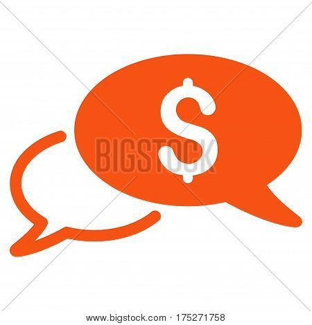 Wire Transfer vector pictogram. Illustration style is a flat iconic orange symbol on white background.
