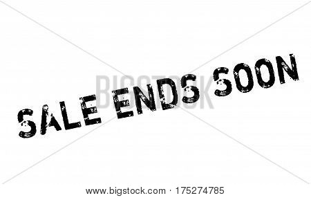 Sale Ends Soon rubber stamp. Grunge design with dust scratches. Effects can be easily removed for a clean, crisp look. Color is easily changed.