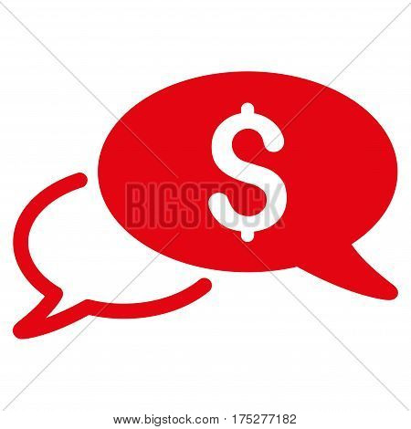 Wire Transfer vector pictograph. Illustration style is a flat iconic red symbol on white background.