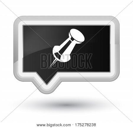 Push Pin Icon Prime Black Banner Button