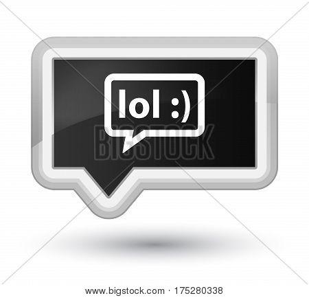 Lol Bubble Icon Prime Black Banner Button