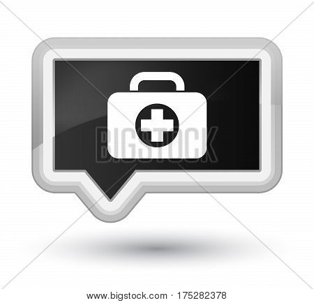 First Aid Kit Bag Icon Prime Black Banner Button
