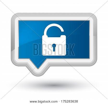 Unlock Icon Prime Blue Banner Button