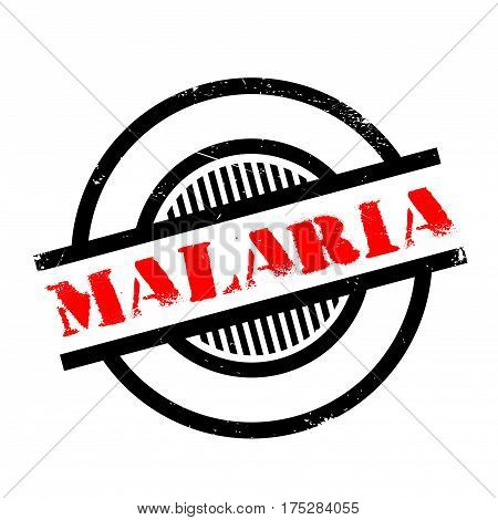 Malaria rubber stamp. Grunge design with dust scratches. Effects can be easily removed for a clean, crisp look. Color is easily changed.