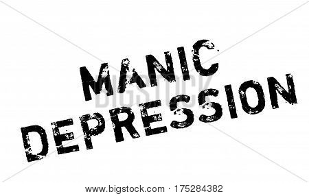 Manic Depression rubber stamp. Grunge design with dust scratches. Effects can be easily removed for a clean, crisp look. Color is easily changed.