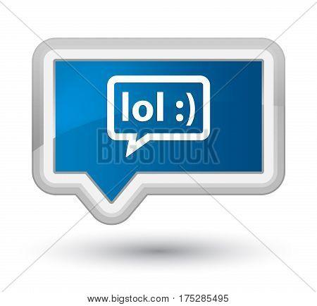 Lol Bubble Icon Prime Blue Banner Button