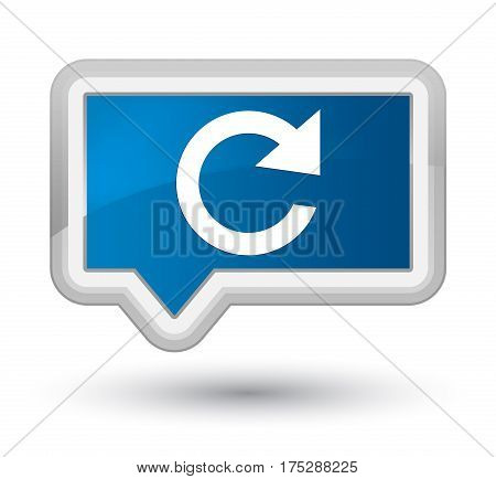 Reply Rotate Icon Prime Blue Banner Button