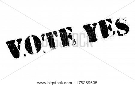 Vote Yes rubber stamp. Grunge design with dust scratches. Effects can be easily removed for a clean, crisp look. Color is easily changed.