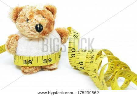 Teddy Bear And Measuring Tape