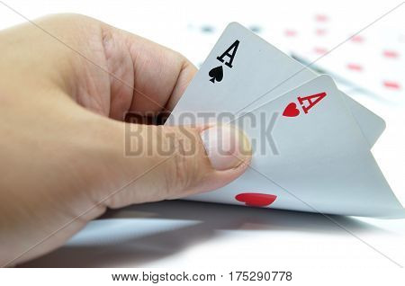 Playing Cards In Hand